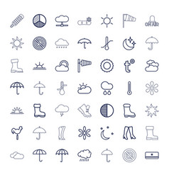 49 weather icons vector