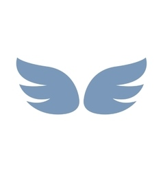 A pair of gray wings icon simple style vector image