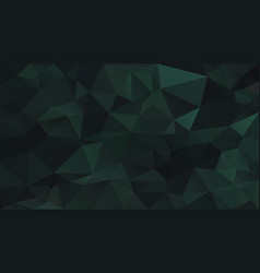 Abstract irregular polygon background pine green vector