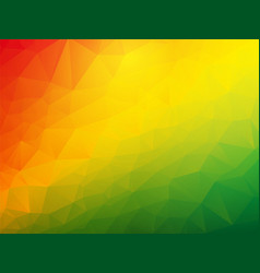 abstract triangular red yellow green background vector image