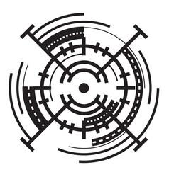 Air crosshair icon simple style vector