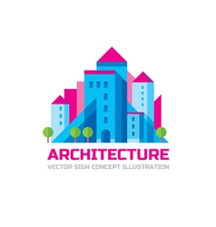 Architecture - logo template in flat style vector image