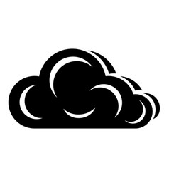 art cloud icon simple black style vector image