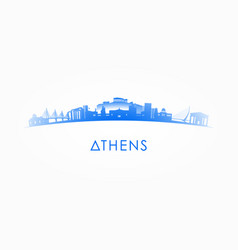 Athens greece skyline silhouette vector
