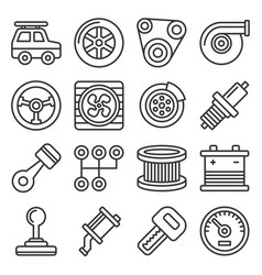 Automotive car service icons set on white vector