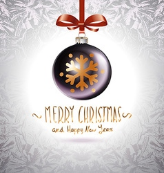Background with Christmas balls Eps 10 grey vector image