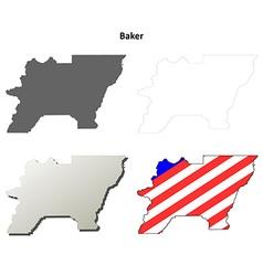 Baker map icon set vector