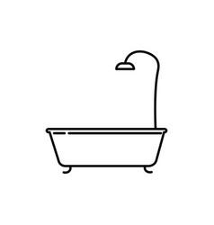 bathub icon vector image