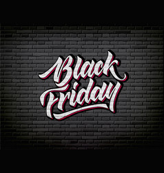 Black friday lettering hand drawn ink brush vector