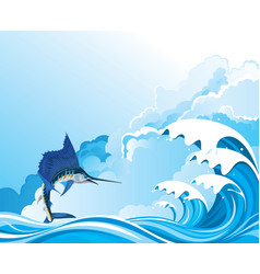 Blue marlin fish vector