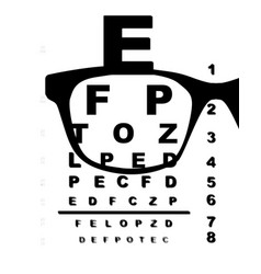 blurr eye test chart vector image