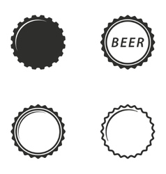 Bottle cap icon set vector