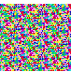 Bright Seamless Geometric Pattern with Triangles vector image