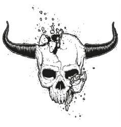Broken skull vector