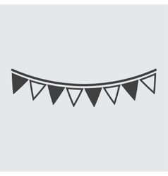 Bunting icon vector image