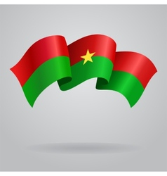 Burkina Faso waving Flag vector image