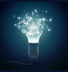 Bursting incandescent lamp background vector