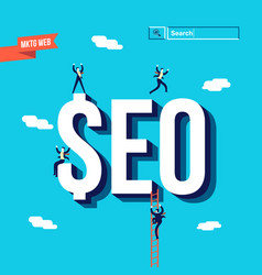 business seo internet marketing vector image