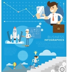 Business template infographic vector image