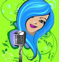 cartoon singer vector image