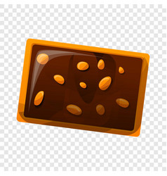 Chocolate nut biscuit icon cartoon style vector