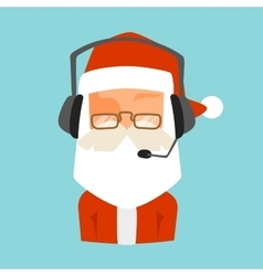 Christmas Santa shop support face avatar vector image