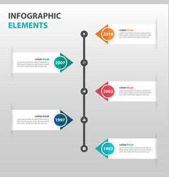 colorful timeline business infographics elements vector image