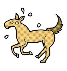 comic cartoon horse sweating vector image