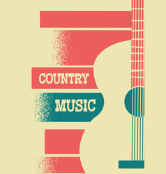 country music background with musical instrument vector image
