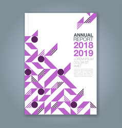 cover annual report 1088 vector image