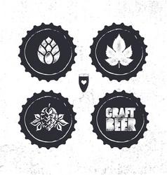 Craft beer brewery artisan creative stamp vector
