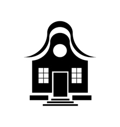 Cute little house icon simple style vector