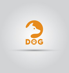 dog head silhouette in circle isolated icon vector image