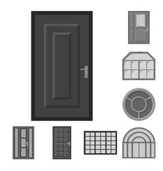 Door and front symbol set vector