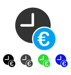 euro recurring payments flat icon vector image