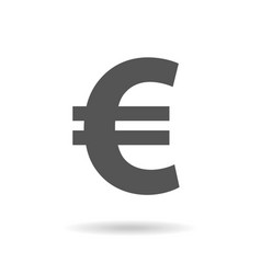 euro sign icon in flat style money vector image