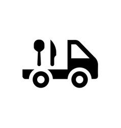 Food delivery icon vector
