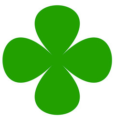 four-leaf clover symbol simple flat icon for luck vector image