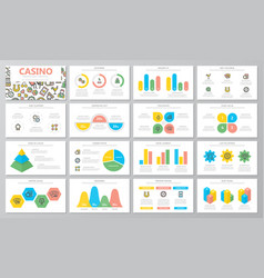 gambling and casino presentation templates vector image