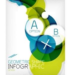 Glossy circle geometric shape info background vector