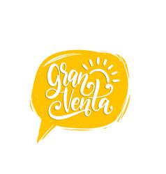 gran venta hand lettering translation vector image