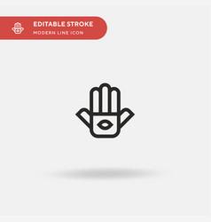 hamsa simple icon symbol vector image