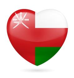 Heart icon of Oman vector