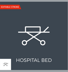 hospital bed related thin line icon vector image