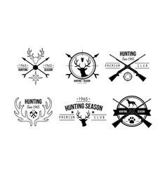 hunting season premium club logo design wildlife vector image