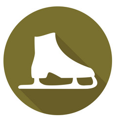Icon ice skates with a long shadow vector