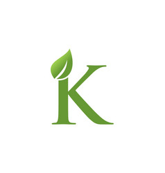 Letter k leaf nature logo vector