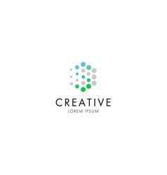 logo crystal vector image