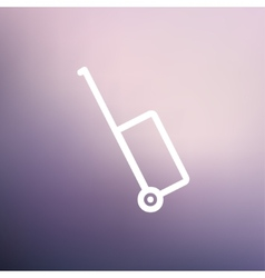 Luggage carrier thin line icon vector image