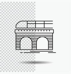 metro railroad railway train transport line icon vector image